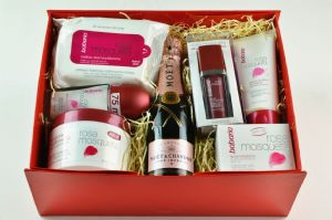 Babaria Rosehip Oil Skin Care and Champagne Gift Set | Mia Beauty Ltd